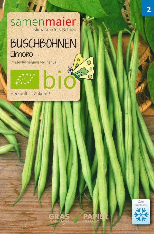 Samentüte Bio Buschbohnen Elmoro von Samen Maier