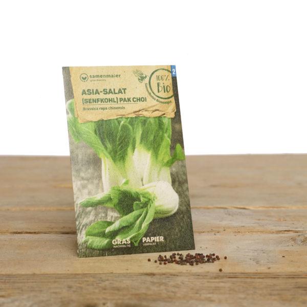 Bio Saatgut Asia Salat (Senfkohl) Pak Choi von Samen Maier