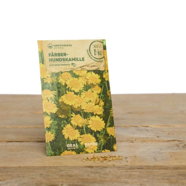 Bio Wildblumen Saatgut Färber- Hundskamille von Samen Maier