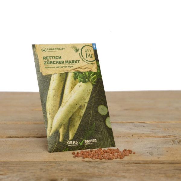 Bio Saatgut Rettich Zürcher Markt von Samen Maier