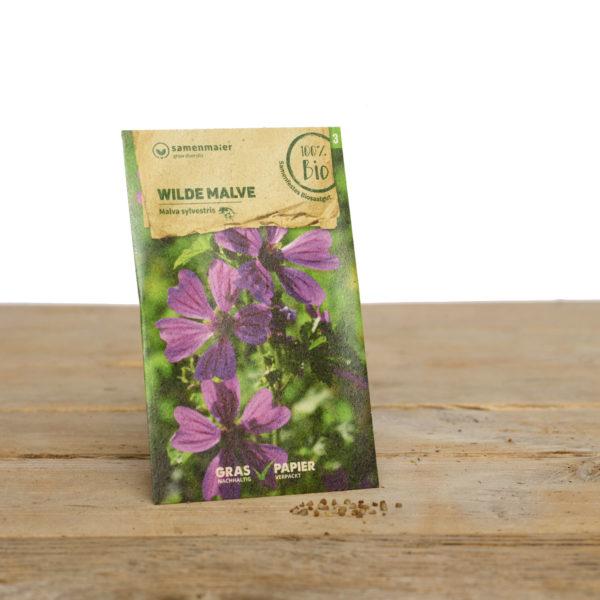 Bio Wildblumen Saatgut Wilde Malve von Samen Maier