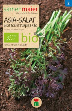 BIO Asia Salat Blattsenf Purple Frills - Brassica juncea var. rugosa