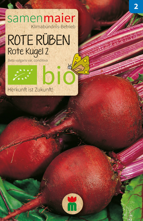 BIO Rote Rüben Rote Kugel 2 - Beta vulgaris var. conditiva