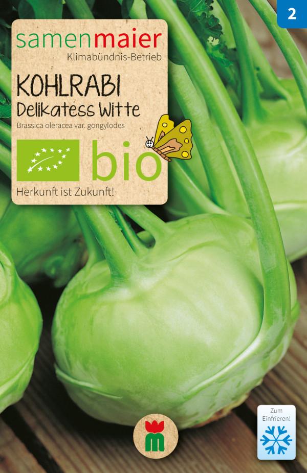 BIO Kohlrabi Delikatess Witte - Brassica oleracea var. gongylodes
