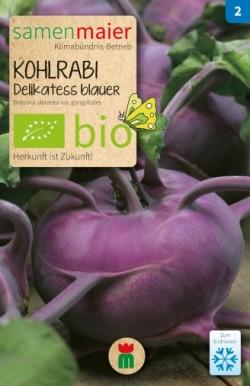 BIO Kohlrabi Delikatess blauer - Brassica oleracea var. gongylodes