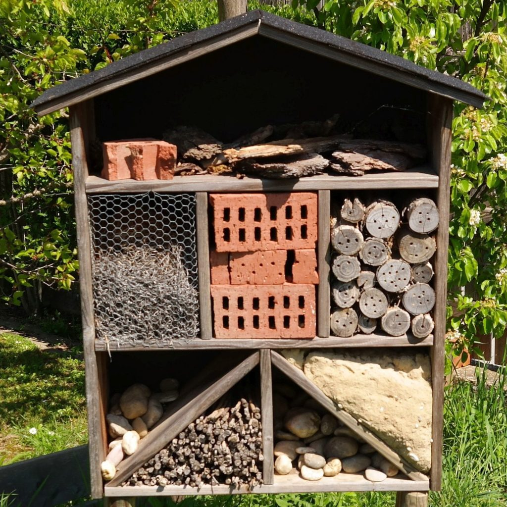 Insektenhaus wartet auf Gäste