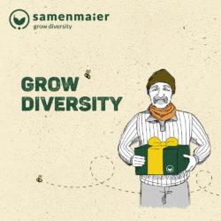 """Grow Diversity Geschenkgutschein """"Humphrey Snowgart"""" von Samen Maier"""