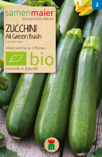 bio zucchini all green bush samen maier. Black Bedroom Furniture Sets. Home Design Ideas
